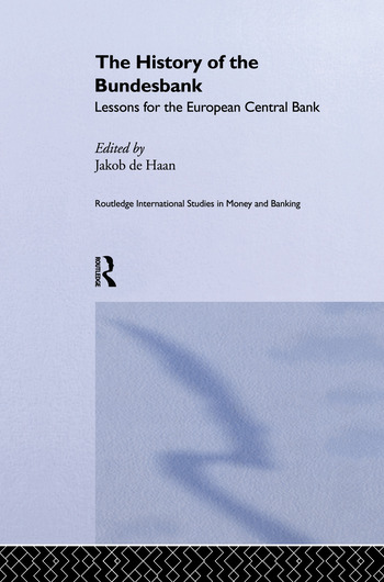The History of the Bundesbank Lessons for the European Central Bank book cover