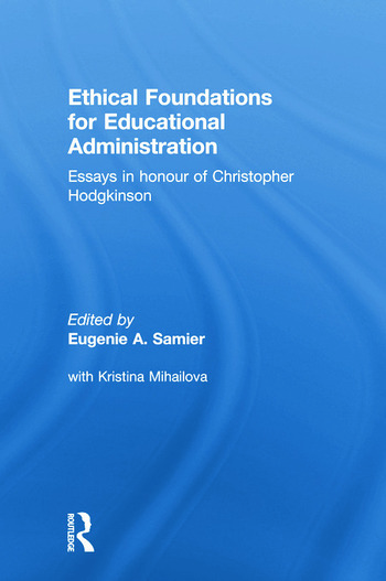 Ethical Foundations for Educational Administration book cover