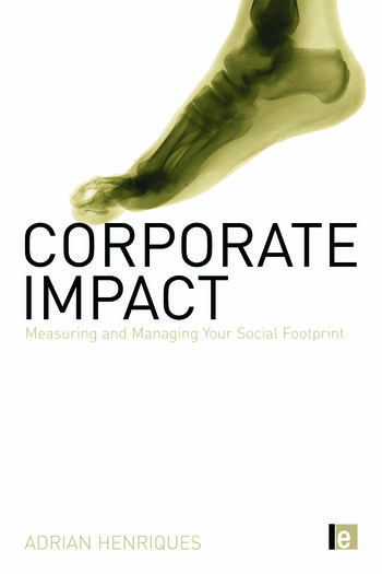 Corporate Impact Measuring and Managing Your Social Footprint book cover