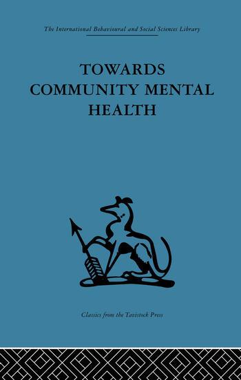 Towards Community Mental Health book cover