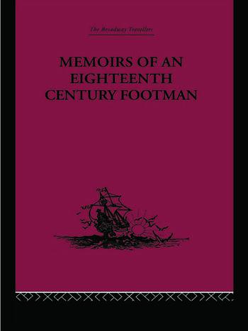 Memoirs of an Eighteenth Century Footman John Macdonald Travels (1745-1779) book cover