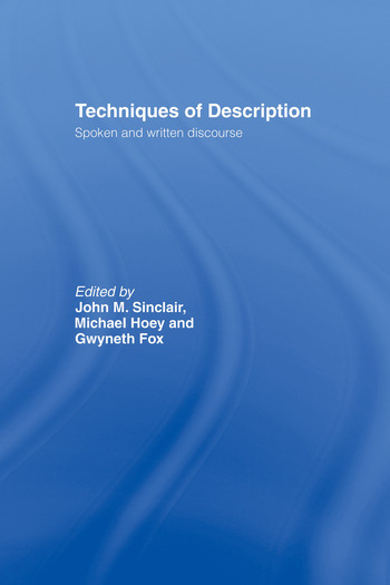 Techniques of Description Spoken and Written Discourse book cover