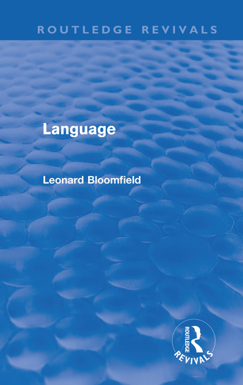 Language (Routledge Revivals) book cover
