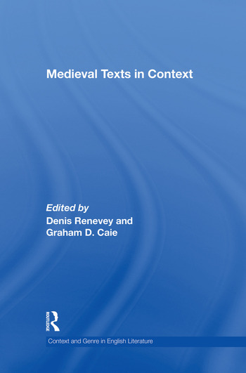 Medieval Texts in Context book cover