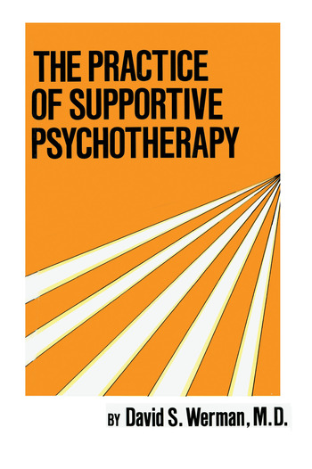 Practice Of Supportive Psychotherapy book cover