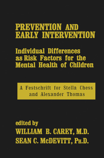 Prevention And Early Intervention book cover