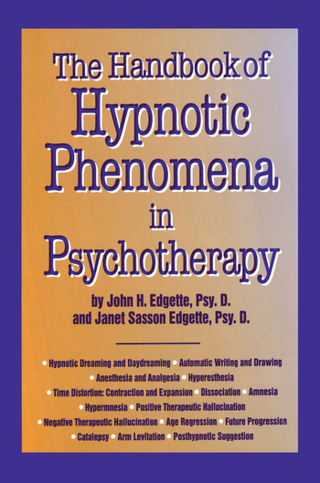 Handbook Of Hypnotic Phenomena In Psychotherapy book cover