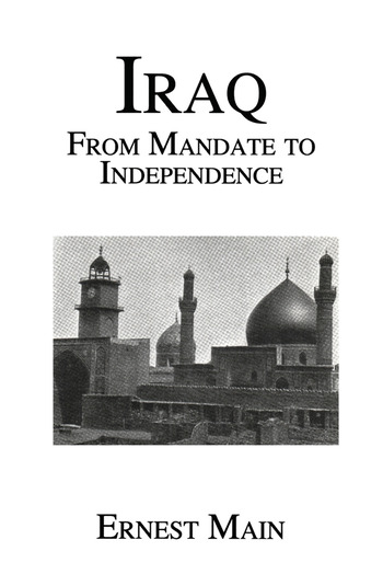 Iraq From Manadate Independence book cover