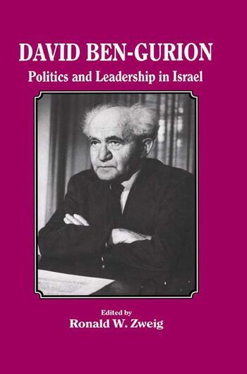 David Ben-Gurion Politics and Leadership in Israel book cover