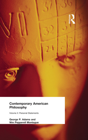 Contemporary American Philosophy Personal Statements Volume II book cover