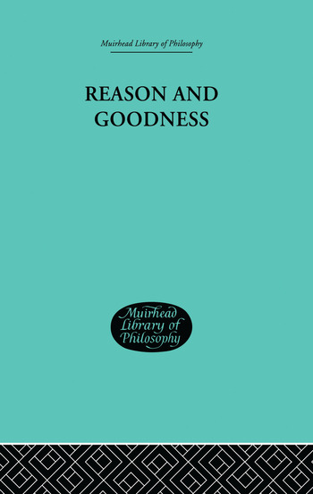 Reason and Goodness book cover