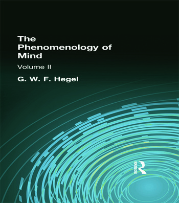 The Phenomenology of Mind Volume II book cover