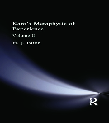 Kant's Metaphysic of Experience Volume II book cover