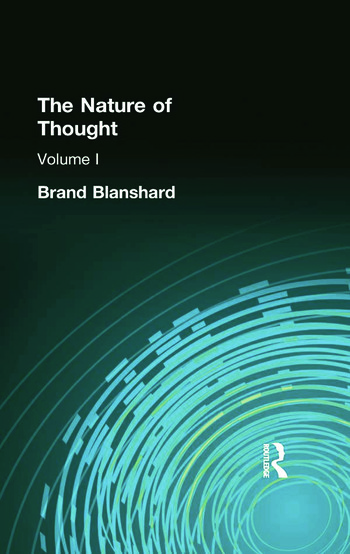 The Nature of Thought Volume I book cover