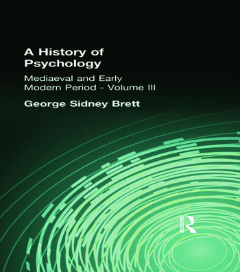 A History of Psychology Mediaeval and Early Modern Period Volume II book cover
