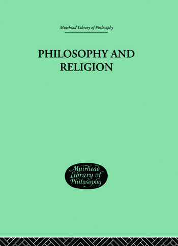 Philosophy and Religion book cover