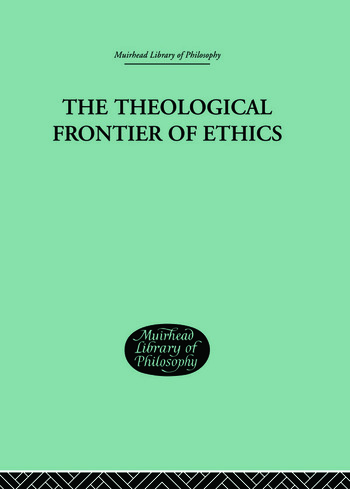 The Theological Frontier of Ethics book cover