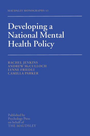 Developing a National Mental Health Policy book cover