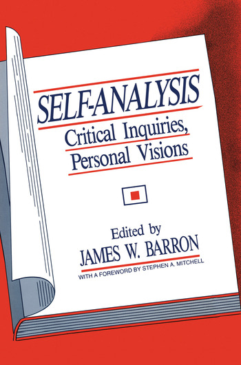 Self-Analysis Critical Inquiries, Personal Visions book cover