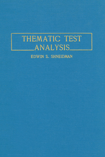 Thematic Test Analysis book cover