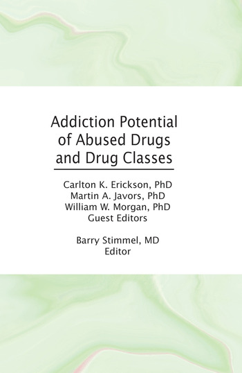 Addiction Potential of Abused Drugs and Drug Classes book cover