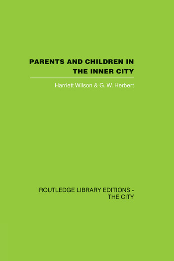 Parents and Children in the Inner City book cover