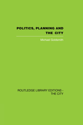 Politics, Planning and the City book cover