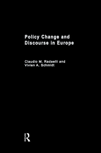Policy Change & Discourse in Europe book cover