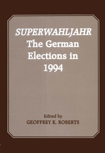 Superwahljahr The German Elections in 1994 book cover