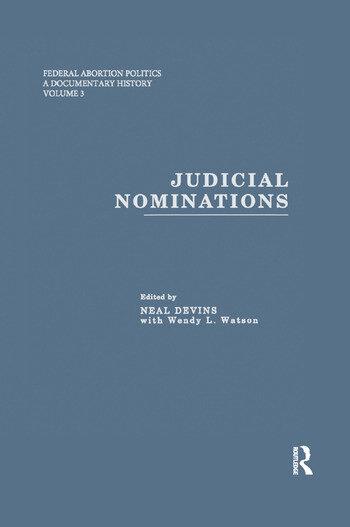 Judicial Nominations book cover