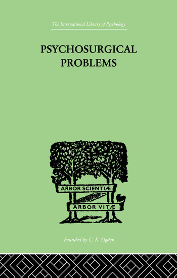 Psychosurgical Problems book cover
