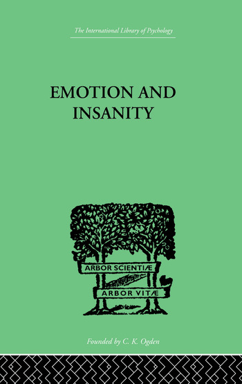 Emotion and Insanity book cover