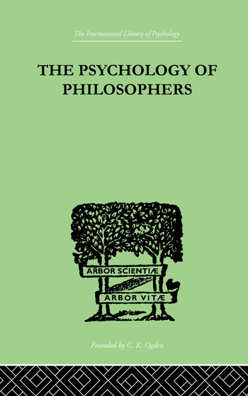 The Psychology Of Philosophers book cover