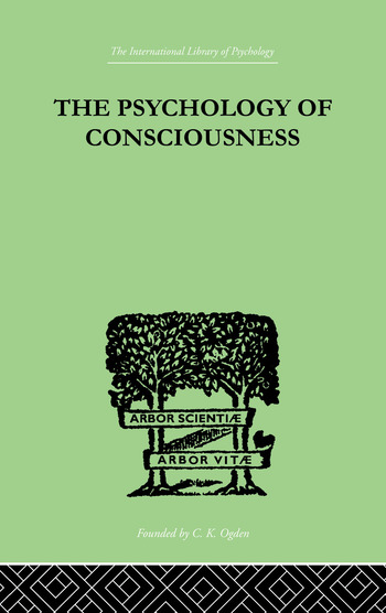 The Psychology Of Consciousness book cover