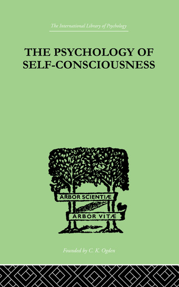 The Psychology Of Self-Conciousness book cover