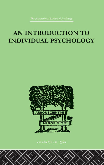 An INTRODUCTION TO INDIVIDUAL PSYCHOLOGY book cover