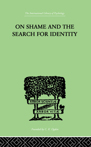 On Shame And The Search For Identity book cover