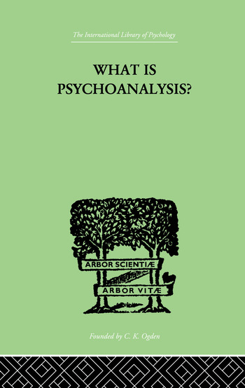 What Is Psychoanalysis? book cover