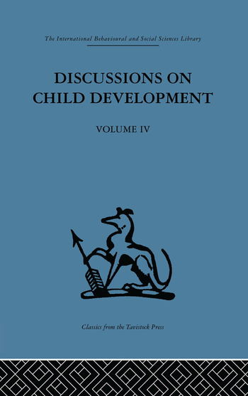 Discussions on Child Development Volume four book cover