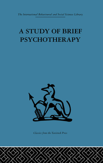 A Study of Brief Psychotherapy book cover