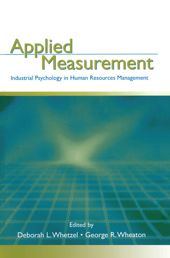 Applied Measurement Industrial Psychology in Human Resources Management book cover