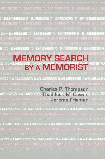 Memory Search By A Memorist book cover
