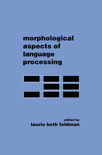 Morphological Aspects of Language Processing book cover