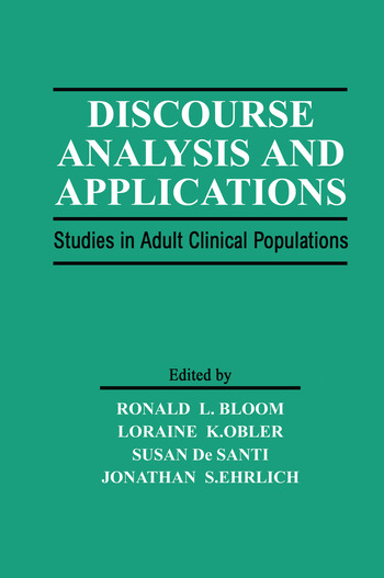 Discourse Analysis and Applications Studies in Adult Clinical Populations book cover