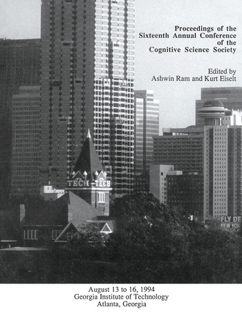 Proceedings of the Sixteenth Annual Conference of the Cognitive Science Society Atlanta, Georgia, 1994 book cover