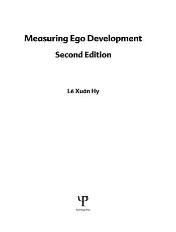Measuring Ego Development book cover