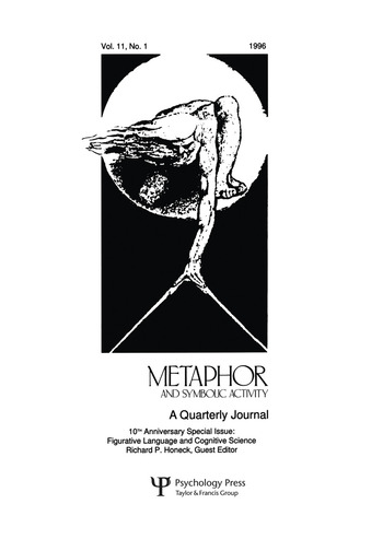 Figurative Language and Cognitive Science A Special Issue of metaphor and Symbolic Activity book cover