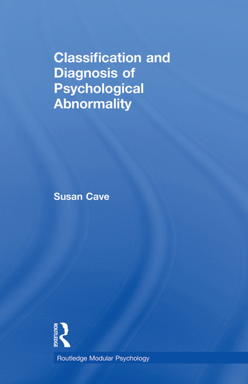 Classification and Diagnosis of Psychological Abnormality book cover