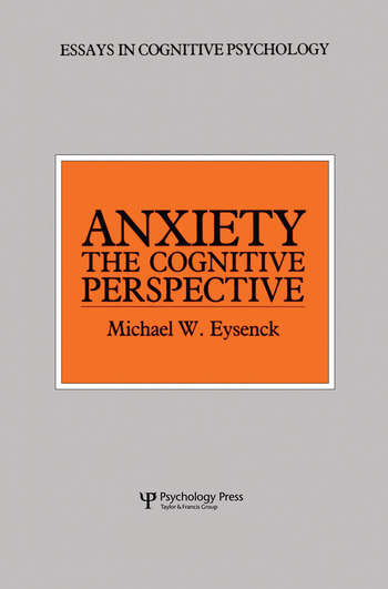 Anxiety The Cognitive Perspective book cover