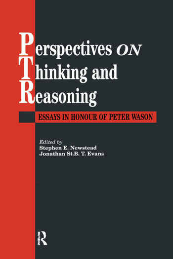 Perspectives On Thinking And Reasoning Essays In Honour Of Peter Wason book cover